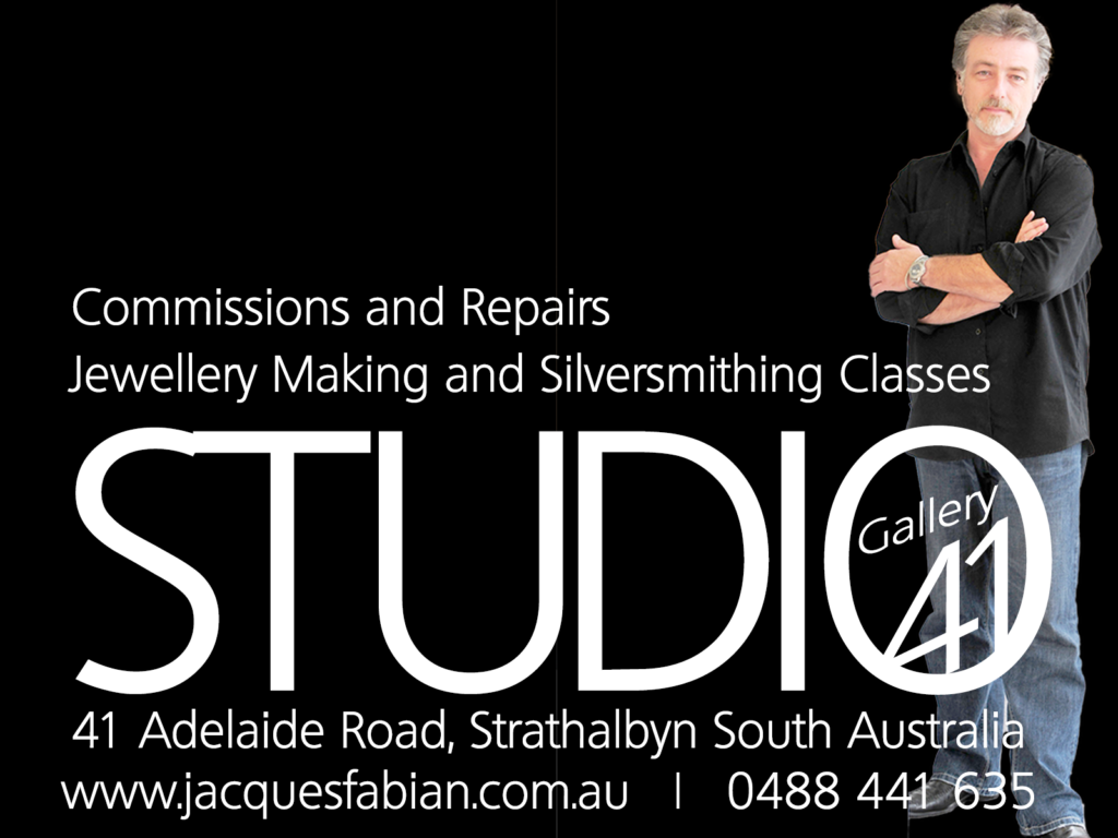 Work with Master Silver and Goldsmith Jacques Fabian in his private studio in Strathalbyn South Australia. Our privacy Policy is your protection