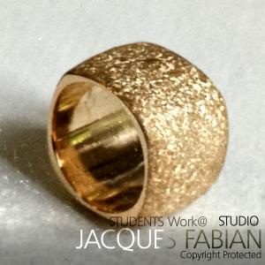 18ct Gold Textured Dress Ring - Juan