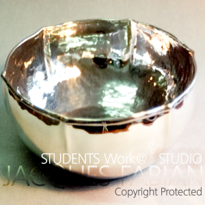 Stirling Silver with Rolled rim bowl
